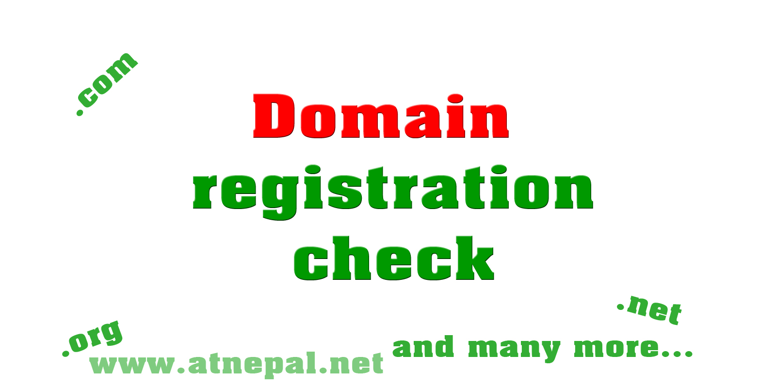 Domain registration check